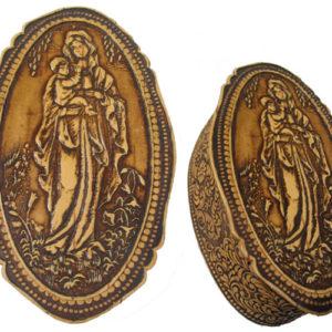 bb1020 – Boîte en écorce de bouleau (Madonna russe)