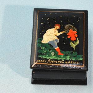 0120 – Boîte laquée 'conte russe' – La fleur d'Aliona