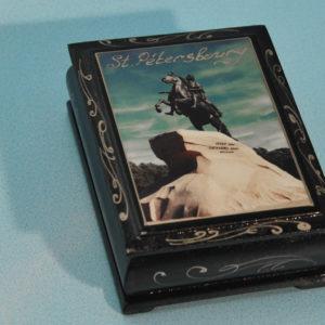 Boîte décorée SAINT-PETERSBOURG photo collée (SP080)