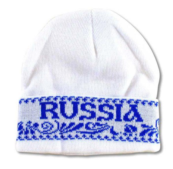 """Bonnet blanc bleu """"Russia"""" (N2)"""