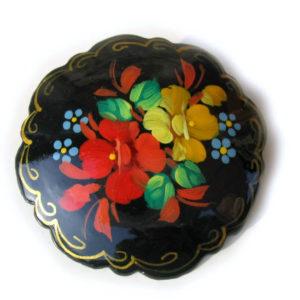Broche d'artisanat russe en bois – 1000b