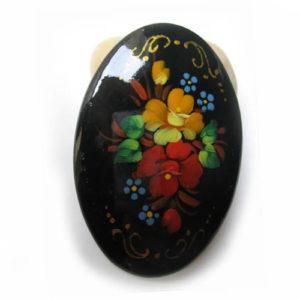 Broche d'artisanat russe en bois – 1018