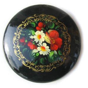 Broche d'artisanat russe en bois – 1024