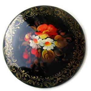 Broche d'artisanat russe en bois – 1024b