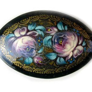 Broche d'artisanat russe en bois – 1025