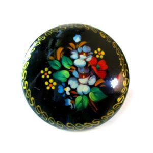 Broche d'artisanat russe en bois – 1041