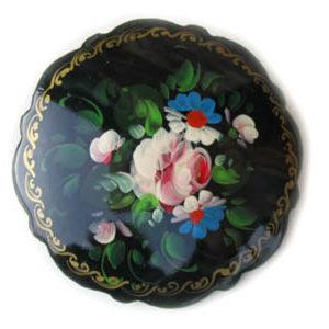 Broche d'artisanat russe en bois – 1042