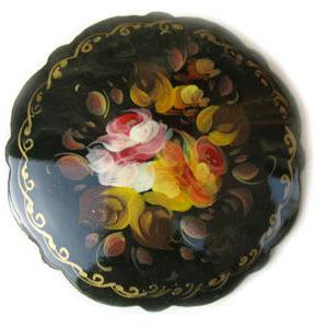 Broche d'artisanat russe en bois – 1042b
