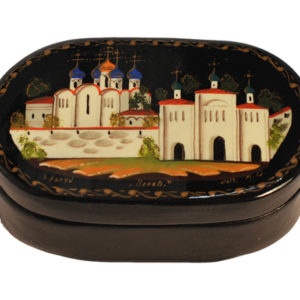Bk202 – Boîte laquée Kholouï – églises orthodoxes 'Kremlin'