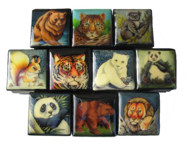 Bo912 – Collection de boîtes laquées – 10 animaux sauvages