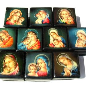 9131 – Collection de boîtes laquées russes – 10 Madonna