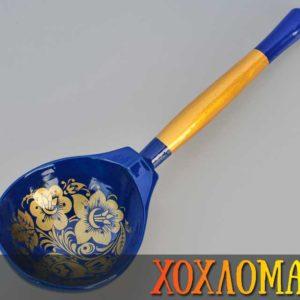 Cuillère russe en bois bleue – 19,5 cm