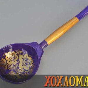 Cuillère russe en bois violette – 19,5 cm