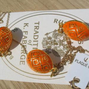 Fb11 – Pendentif Oeuf Fabergé Orange – Or