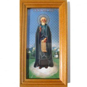 ico403 – Icône orthodoxe 'Serge Radonejski' 14×8 cm