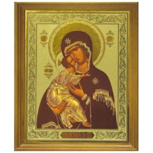 ico105 – Icône russe 'Bogoroditsa Wladimirskaia' 21×26 cm