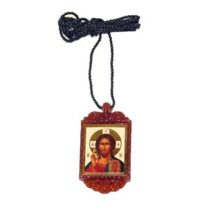Bon1 – Pendentif orthodoxe 'Jesus Christ' + cordon offert (E4-1)