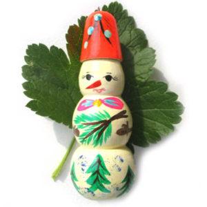 In6 – Figurine Bonhomme de neige russe (Sapin de noël russe)