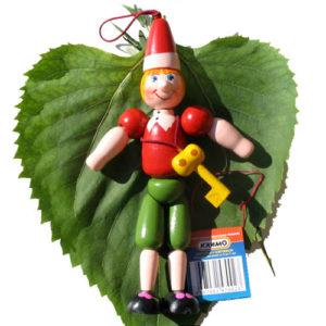 Figurine 'Bouratino' russe pour sapin Noël ou poussette