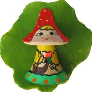 Magnet-mini 'Champignon russe souriant'