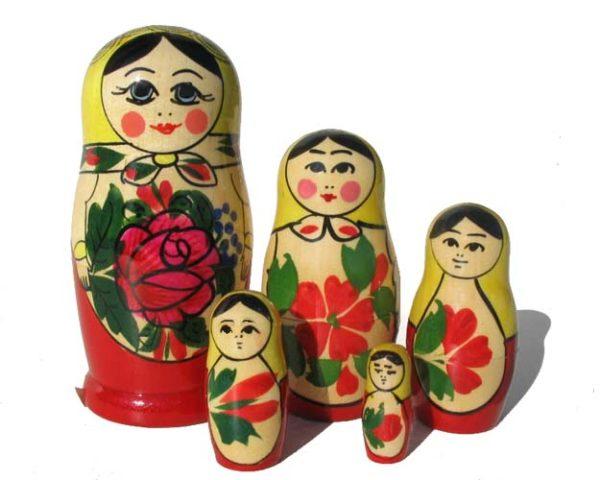 Matriochka 'Semenov' 5p. – 11 cm (mas10051)