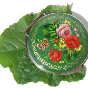 Mr15 Miroir artisanat russe 'Art russe' Vert