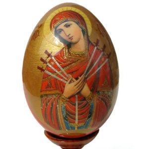 oei12 – Oeuf Russe représentation d'une icône