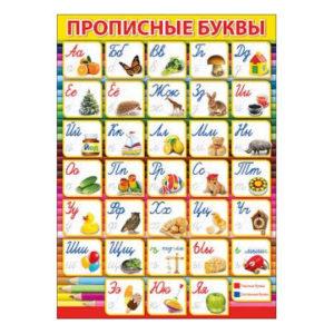"""Poster russe """"Abécédaire cyrillique"""" avec images"""