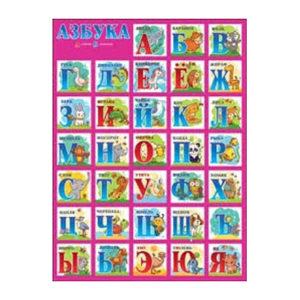 """Poster russe """"Abécédaire cyrillique"""" (440×600 mm)"""