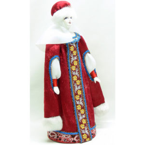 Poupée tissus et porcelaine, costume traditionnel russe (162)