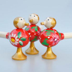 Sifflet Oiseau en bois rouge (19X5)