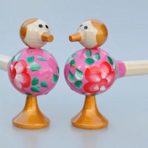 Sifflet Oiseau en bois rose (19X5)
