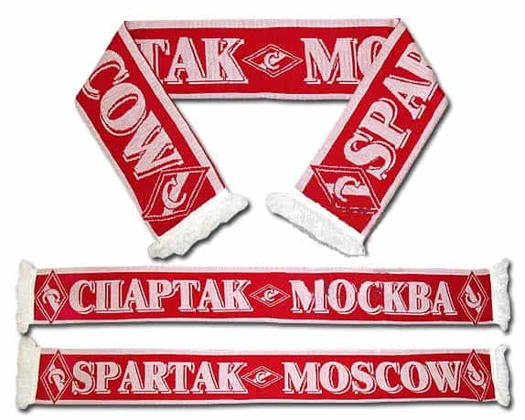 Echarpe russe supporter Spartak rouge-blanc 140 X 20 cm