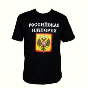 TSI14L – T-shirt noir 'L'empire russe' Taille L