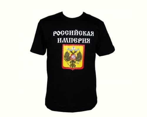 TSI14M – T-shirt noir 'L'empire russe' Taille M