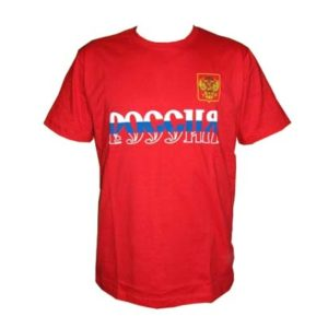 TS120XL – T-shirt rouge/bleu 'Russie' Taille XL