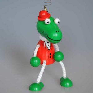 Crocodile sur ressort, jouet de Voznessensk (VOZN04V)