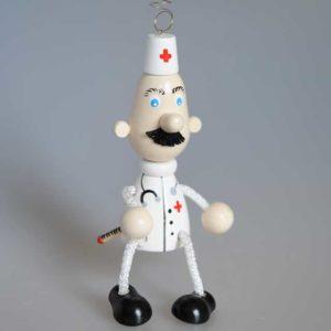 Docteur sur ressort, jouet de Voznessensk (VOZN05B)
