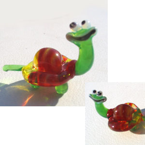 Vr06 – Figurine russe en verre soufflé, la tortue