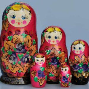 Matrioshka Traditionnelle 5 pièces 17-18 cm (XE2-07)