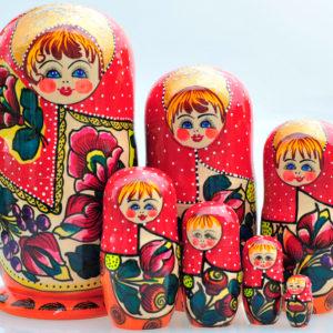 Matrioshka Traditionnelle 7 pièces 20 cm (XE3-01)