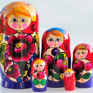Matrioshka Traditionnelle 5 pièces 17 cm (XE3-52)