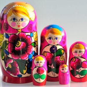 Matrioshka Traditionnelle 5 pièces 17 cm (XE3-54)