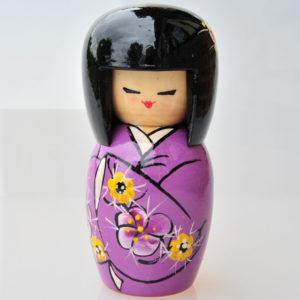 Matriochka Femme Japonaise Kokeshi, 1 pièce 14,5 cm (XI4-02)