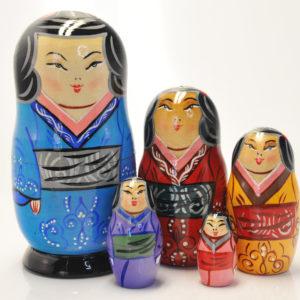 Matriochka Japonais en kimono (ZNMP00502)