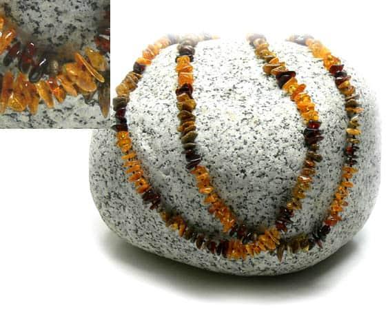 am103 – Long collier Ambre de la Baltique (130 cm)
