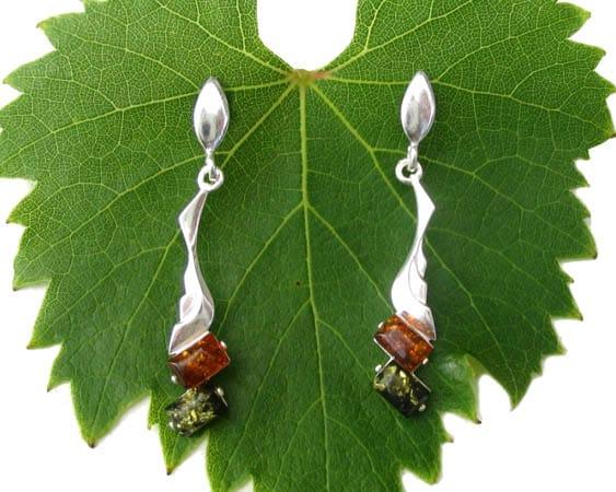 amb041 Boucles d'oreilles ambre 'Tsarine russe'