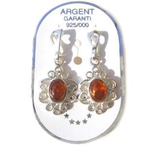 amb042 Boucles d'oreilles ambre 'Barynia russe'