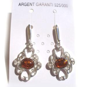 amb0440 Boucles d'oreilles ambre 'Beauté resplendissante russe'