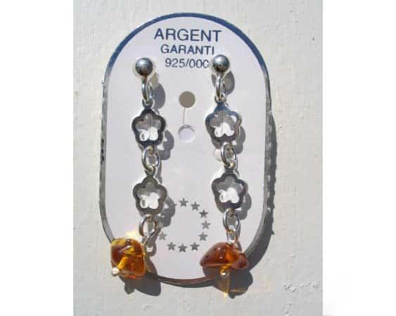 amb066 – 'Fruit' – Boucles d'oreilles ambre balte 'Yagodka'